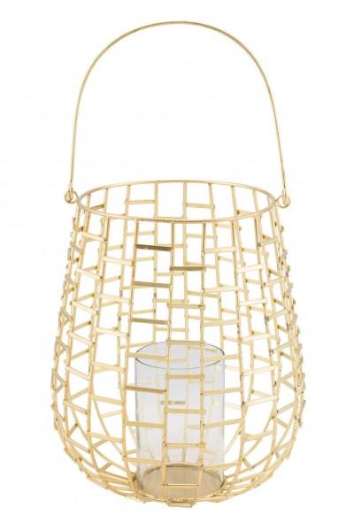 Metallwindlicht mit Glas