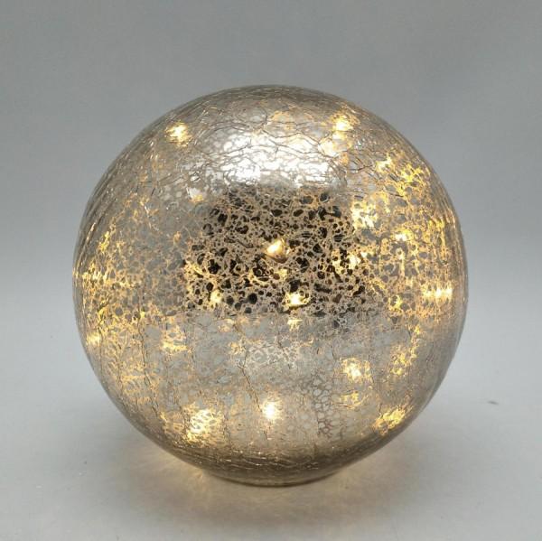 Crackle Kugel mit LED
