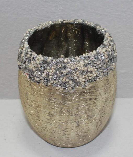 Teelichthalter Perlenrand, M