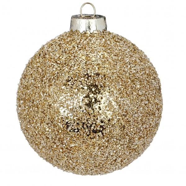 """Weihnachtskugel """"Gold-Glitzer"""""""
