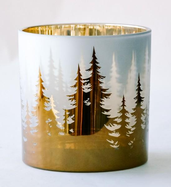 Teelicht Trees, Gold, L