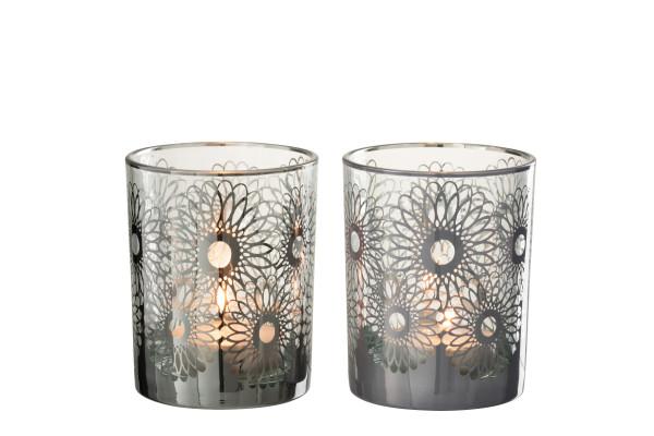 Teelichtglas Sonnenblumen, M