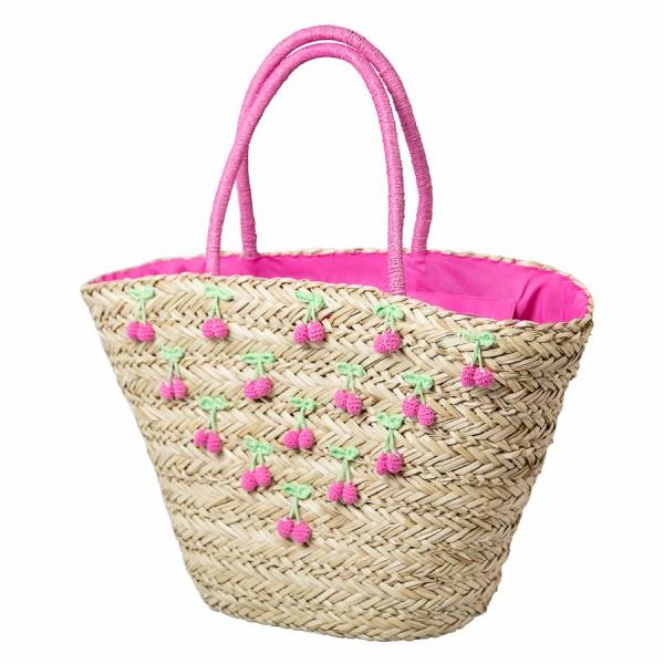 Korbtasche Cherry groß, Pink