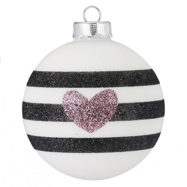 """Weihnachtskugel """"Stripes"""""""