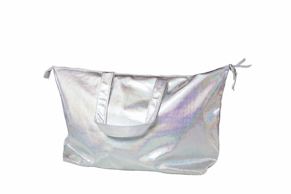 "Beachbag ""Metallic Silver"""
