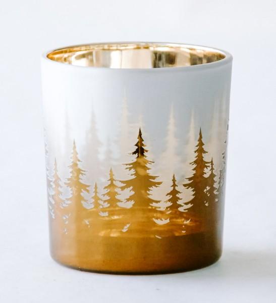 Teelicht Trees, Gold, S