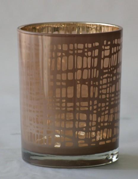 Teelicht Nest, Rosa/Gold, M