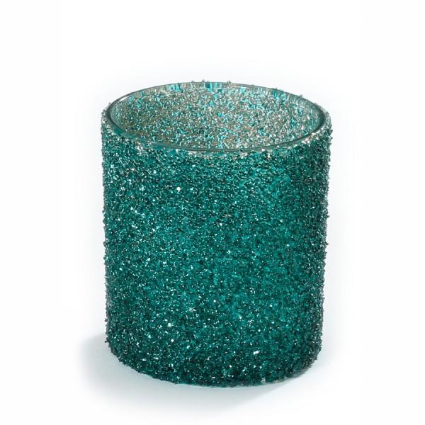 Glas Teelichthalter Rich and Glorious grün