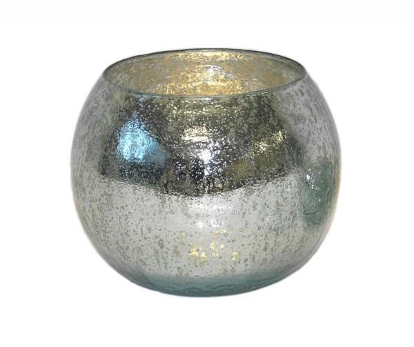 """Glas-KugelWindlicht """"Nisri"""" hellblau"""