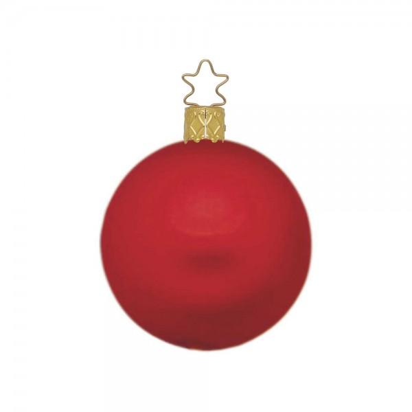 Weihnachtskugel rot, matt