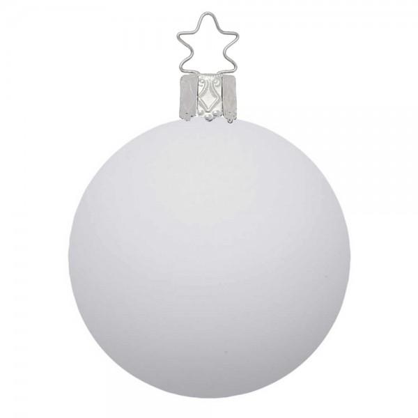 Weihnachtskugel porzellanweiß, matt