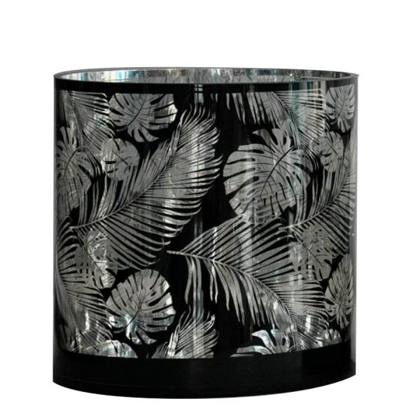 """Windlicht """"Palms"""" schwarz/silber"""