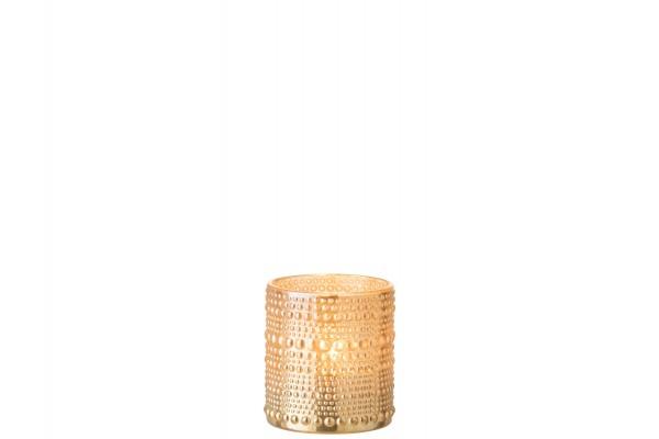 Teelichtglas Kugel, S