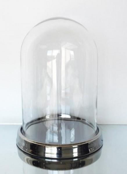 Glas Cloche auf Teller M