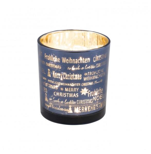 """Glasteelichthalter """"Weihnachten"""", S"""