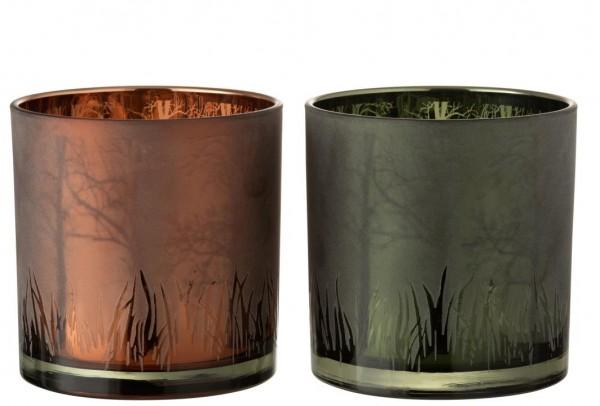 """Windlicht """"Gras"""", Bronze, L"""