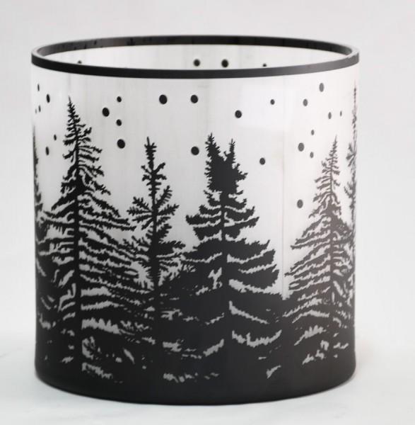 """Glas Windlicht """"Trees"""""""
