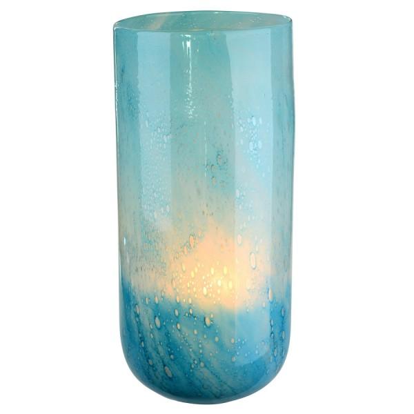 LINEN Vase L aqua