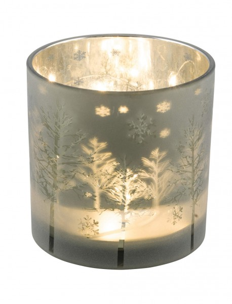 """Glaswindlicht """"Bäume gefrostet"""" , M"""